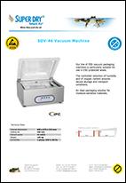 SDV 46 vacuum machine datasheet