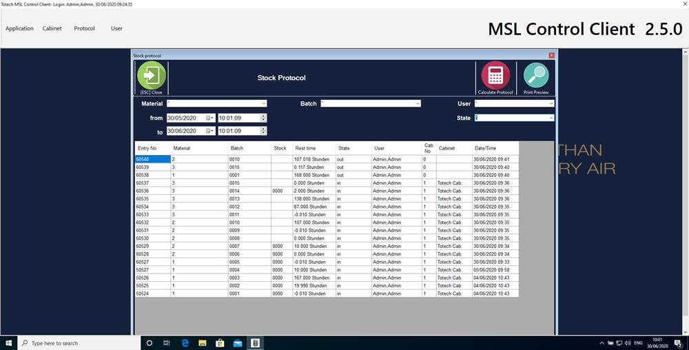 MSL 2.5 software component logistics