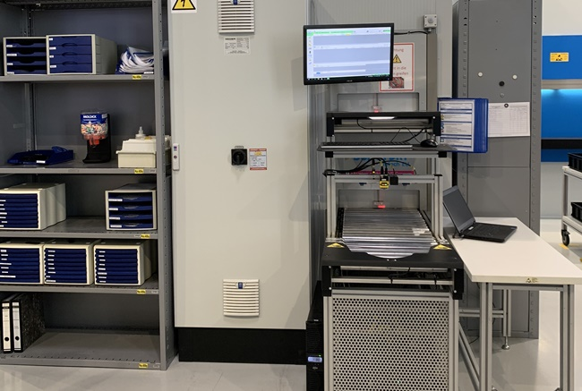 Dry Tower automated storage system installation at HS Elektronik Systeme GmbH